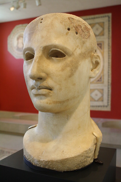 Acrolithic Head From The Cult Statue Of Apollo Alaios At