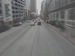 Hurtling through Downtown Seattle on a Double Tall