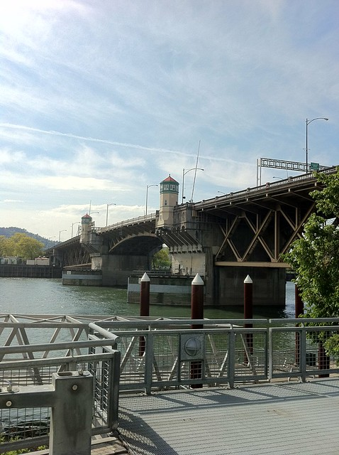 Morrison Bridge from the Eastside Esplanade
