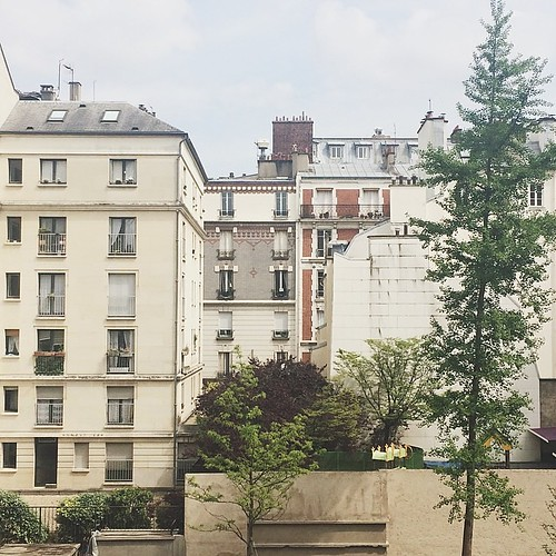 just checked into our little parisian flat in collaboration with @habitatparisien!