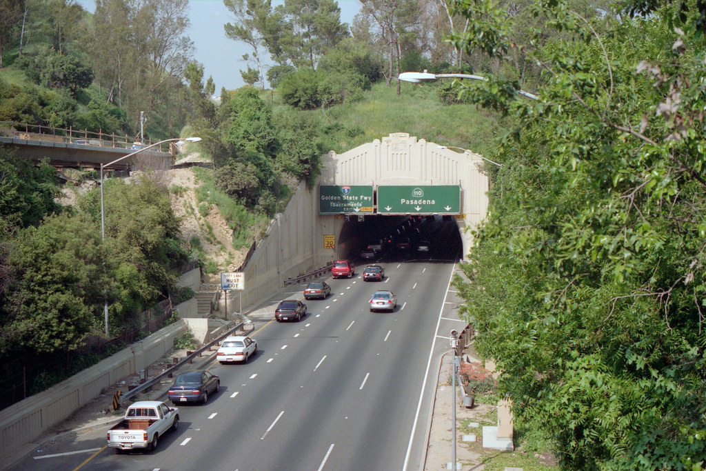 110 Freeway and start of 110 Parkway April 2001