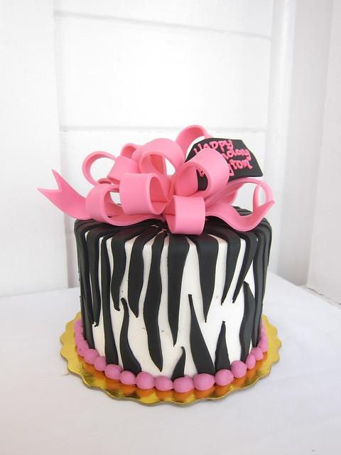 Neon Green and Black Zebra Striped Cake Neon - Flickr