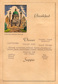 1946 - Thanksgiving Dinner Menu - Camp Glasenbach Officers Club