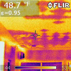Infra Red of Chapel Ceiling