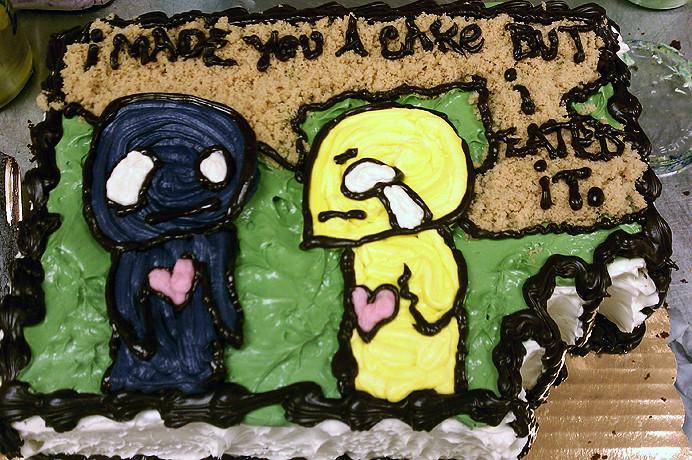 Pon And Zi By Azuzephre Emo Cartoon Cake By Tony Tone Tone