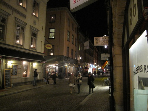 Around Gamla Stan this evening