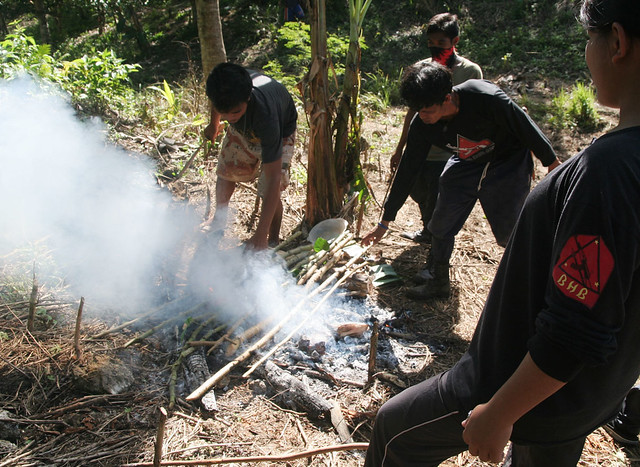 File photo of New Peoples Army (NPA) guerillas in the hinterlands of Davao City. Mindanews File Photo by Keith Bacongco