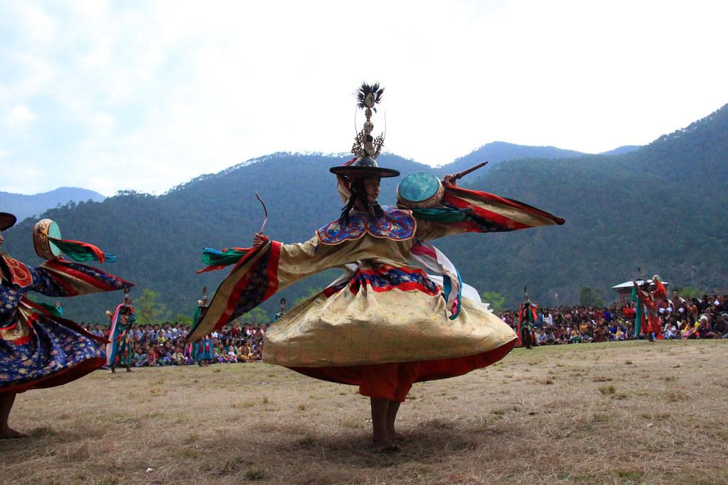 Tshechu Dancers - Bhutan