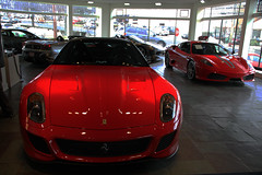 ferrari california(0.0), race car(1.0), automobile(1.0), automotive exterior(1.0), ferrari 599 gtb fiorano(1.0), wheel(1.0), vehicle(1.0), performance car(1.0), automotive design(1.0), bumper(1.0), ferrari s.p.a.(1.0), land vehicle(1.0), luxury vehicle(1.0), supercar(1.0), sports car(1.0),