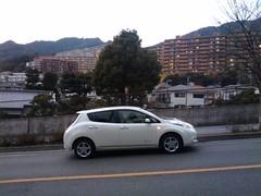 automobile, automotive exterior, vehicle, nissan leaf, electric car, compact car, land vehicle, hatchback,