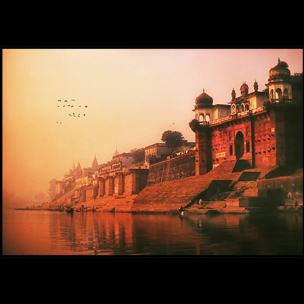 Time stands still ...the Holy Ganges river  at dawn
