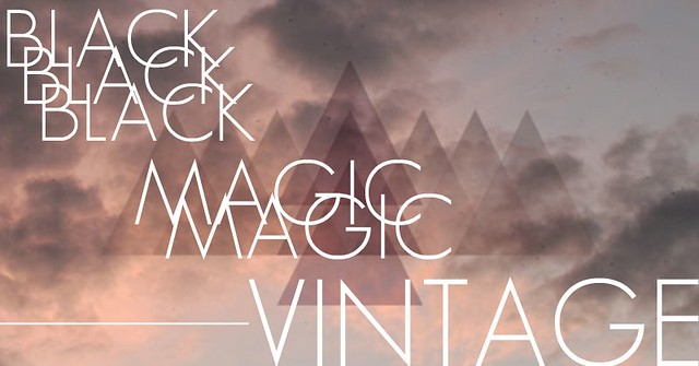 black magic vintage BIG LOGO