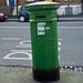 Small photo of Green Pillar Box (Postbox)