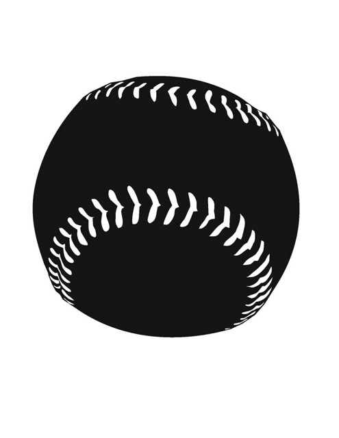 Baseball Ball Silhouette