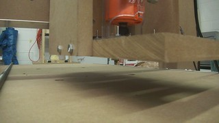 CNC mill on the move