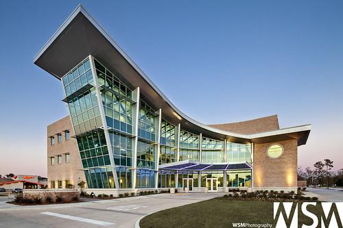 sunset usa brick architecture modern slidell design la contemporary canopy curtainwall kawneer aedesign