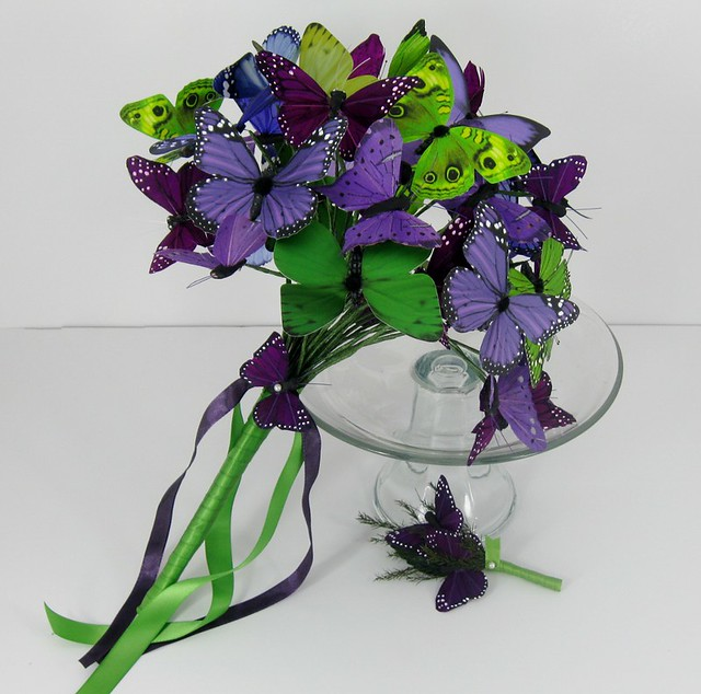 Бабочки для украшения букетов своими руками 56