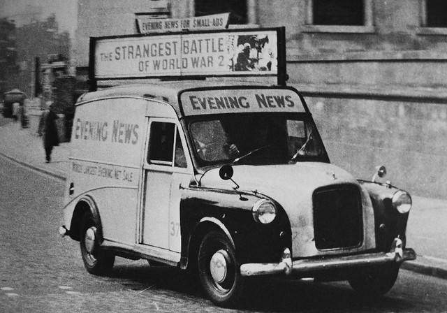 Austin FX4 Evening News van 1960's.