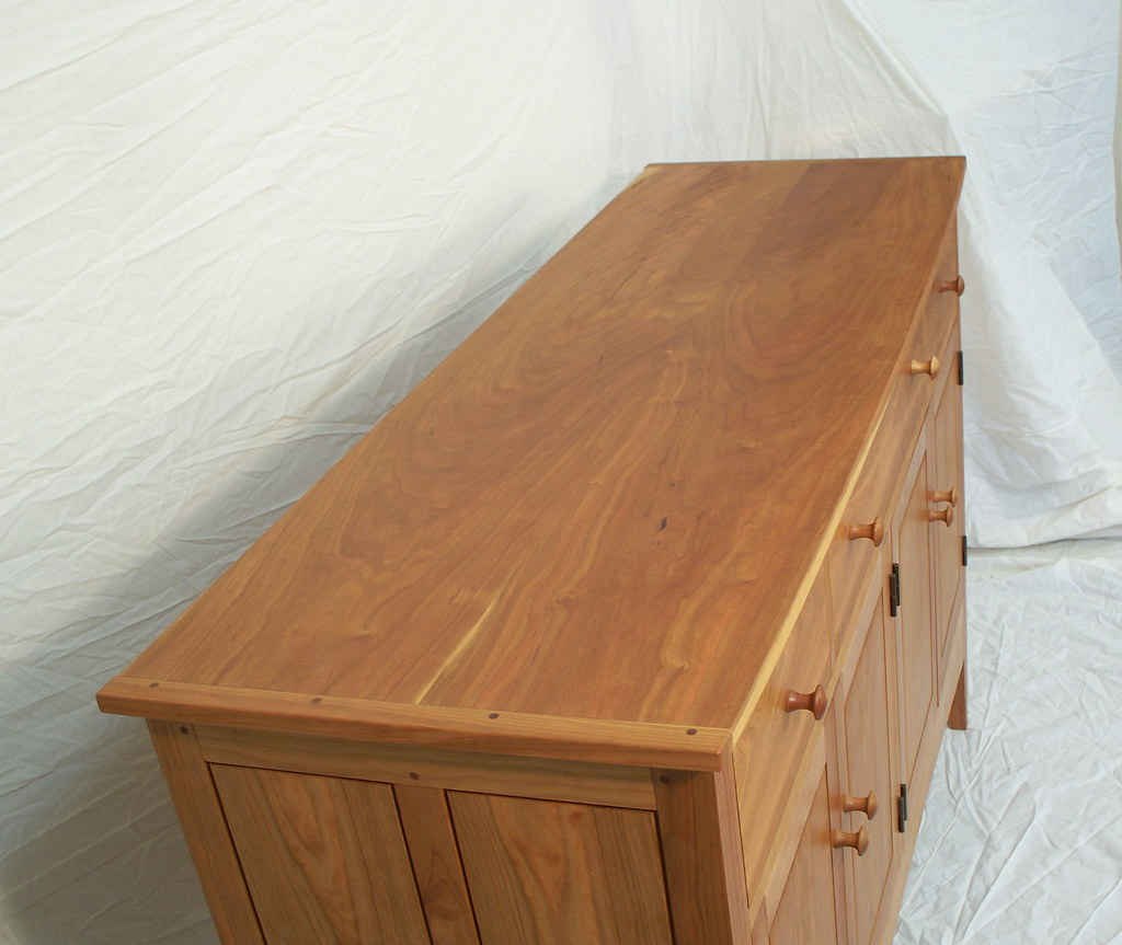 top furniture makers.  top book matched top on sideboard by doucette and wolfe furniture makers and