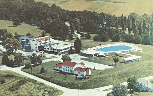 vintage hotel inn pennsylvania postcard motel lincolnhighway