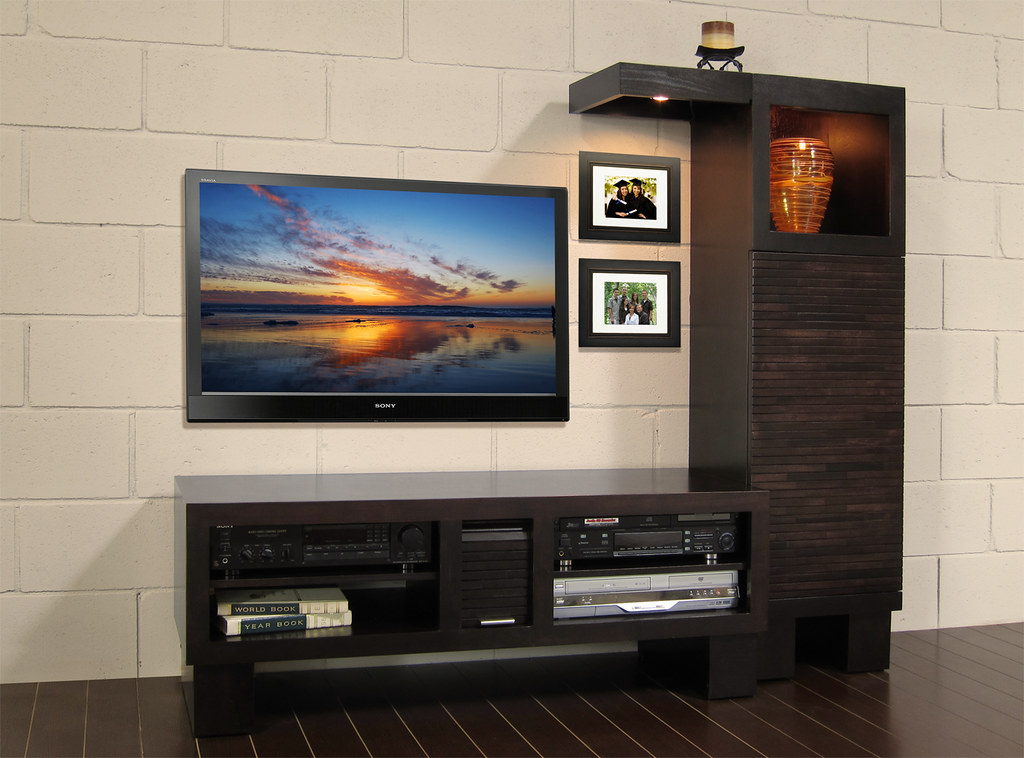modern entertainment center pacific 48 in espresso a photo on