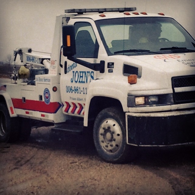 My knight in shining tow truck! #100happydays #drjohn
