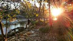 A little early morning fall fishing with my buddy Dan on the Guadalupe.  #fish #fishing #river #guadalupe #texas #morning #sunrise #fall #beforeifellintheriverandkilledmyphone