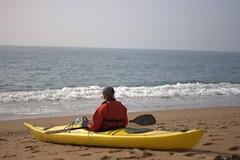 Helen on a quiet beach near Durdle Door Image