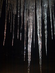 stalactite, ice, icicle, cave, freezing, lighting,