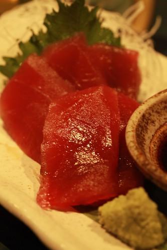 マグロ刺身 赤坂 居酒屋「鶏・旬菜・お酒 てけてけ 赤坂」