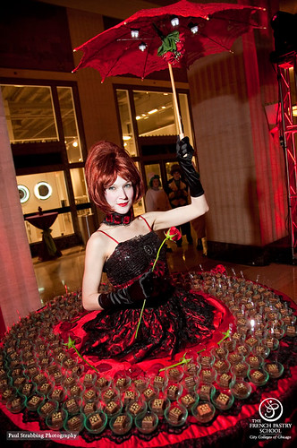 Redmoon Theater's Marie Antoinette serves chocolate cake to guests at the gala on February 5, 2011. by French Pastry School, on Flickr