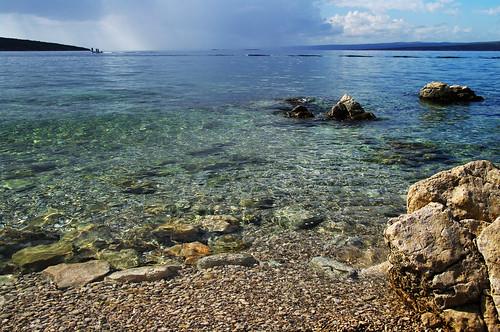 beach season island alone croatia lovely krk afterseason punat