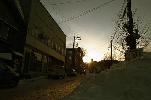 street city sunset snow digital nikon hokkaido day nikkor schedule nikkorlens d40 nikond40