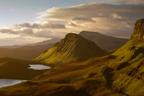Sun rising over the Quiraing ,  Isle of Skye