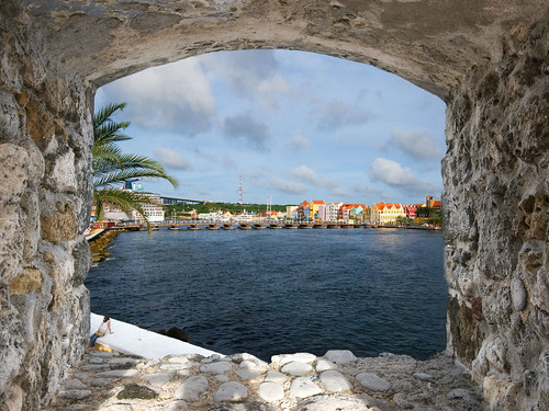window view fort curacao framing willemstad netherlandsantilles annabaai