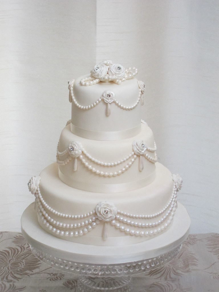 pearls wedding cake | Flickr - Photo Sharing!