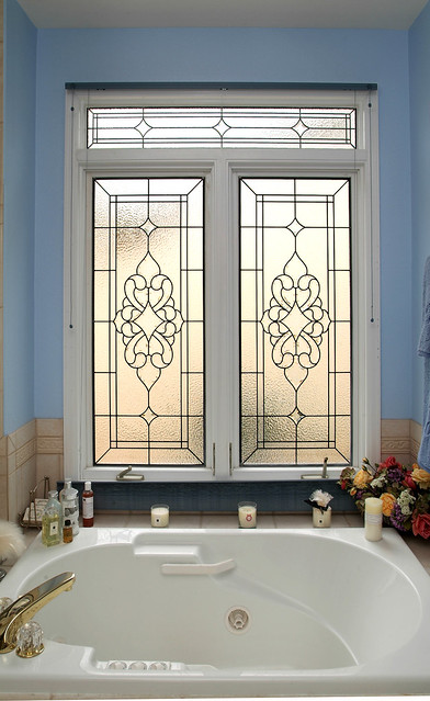 stained glass bathroom window transom flickr photo sharing