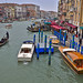 The Gran Canal, Rialto Bridge, Venice, Italy.