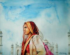 Woman at TajMahal