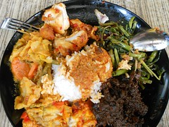 Nasi Padang (Top view)