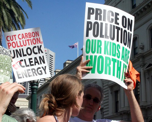 Price the Polluters Rally - Price on pollution our kids are worth it