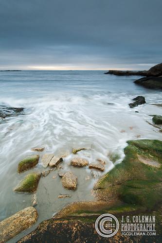 ocean sea usa water rock stone sunrise waves connecticut eastlyme rockyneckstatepark