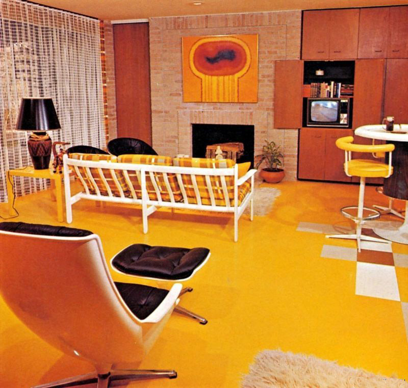 Super seventies super 70s decor for 70s living room furniture