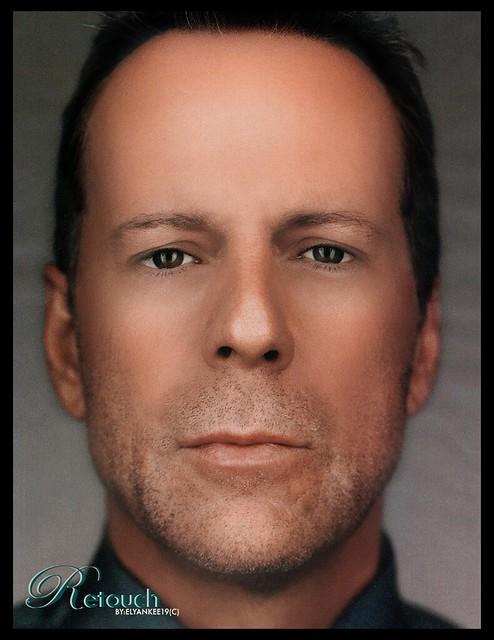 Bruce Willis Young Retouch Photo Original Photo I131