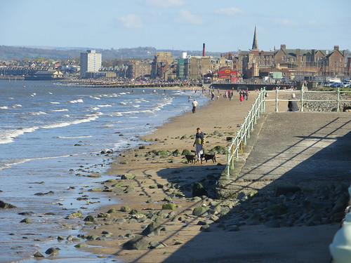 Portobello Beach from Seafield, Edinburgh, April 2014