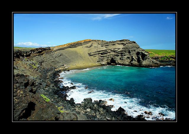 Green Sand Papakolea Beach