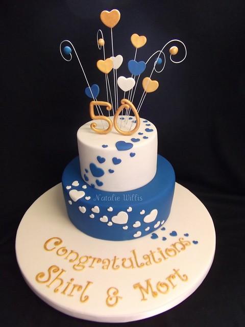 Shirl Mort 39s 50th Wedding Anniversary Cake Golden anniversary cake