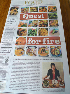 Cover of L.A. Times Food Section (Full Page)