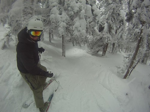 Another quick GoPro video - me & JJ riding thru the Northface Glades (and, um, I smash into a tree)