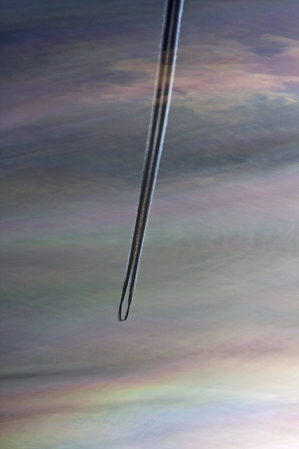 KLM 747-400 Contrail in Sunset